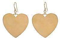 bing bang gold heart earrings
