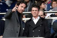 Manuel Valls  - 07.03.2015 -   PSG / Lens -  28eme journee de Ligue 1 <br />Photo : Andre Ferreira / Icon Sport