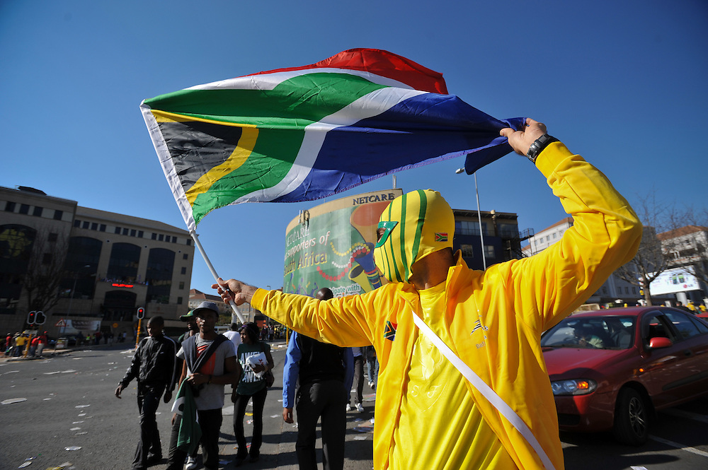 """at the """"United We Shall Stand"""" rally for the South African national soccer team, Bafana Bafana, Tuesday, June 8, 2010 in Johannesburg, South Africa. Photo by Bahram Mark Sobhani"""