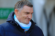 Tony Mowbray during the Sky Bet League 1 match between Coventry City and Rochdale at the Ricoh Arena, Coventry, England on 5 March 2016. Photo by Daniel Youngs.