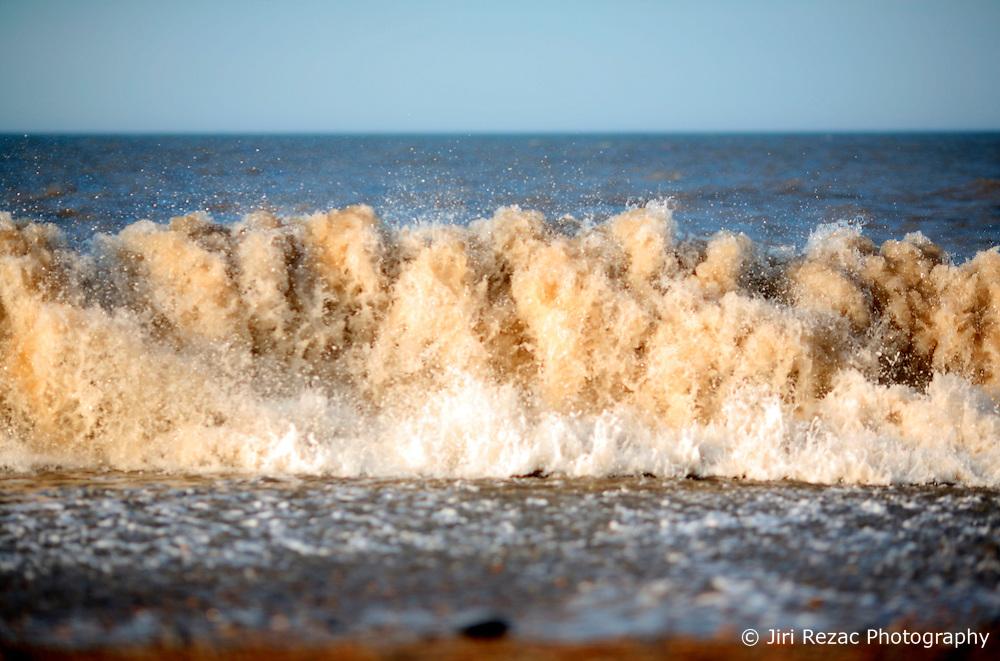 UK ENGLAND NORFOLK 9APR07 - Detail of a wave breaking on the seashore in north Norfolk, close to Wells-next-the-sea...jre/Photo by Jiri Rezac..© Jiri Rezac 2007..Contact: +44 (0) 7050 110 417.Mobile: +44 (0) 7801 337 683.Office: +44 (0) 20 8968 9635..Email: jiri@jirirezac.com.Web: www.jirirezac.com..© All images Jiri Rezac 2007 - All rights reserved.