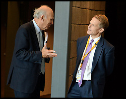 The Business Secretary Vince Cable talks to David Laws ® at the Liberal Democrats Party Conference at The Scottish Exhibition Conference Centre, Glasgow, United Kingdom. Wednesday, 18th September 2013. Picture by Andrew Parsons / i-Images