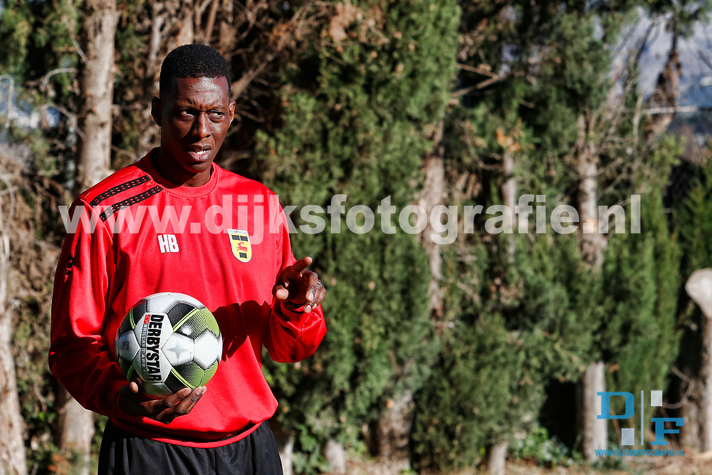 BENIDORM , 07-01-2018 , trainingskamp SC Cambuur in Spanje , Harvey Bischop<br /> <br /> foto: Henk Jan Dijks