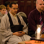 The Zen Buddhist wedding of Tamara & Prabu at the Fire Lotus Temple in Boerum Hill, Brooklyn.