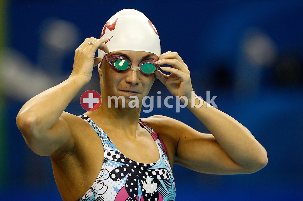 Audrey LACROIX of Canada prepares herself before a training session during the 14th FINA World Aquatics Championships at the Oriental Sports Center in Shanghai, China, Tuesday, July 26, 2011. (Photo by Patrick B. Kraemer / MAGICPBK)