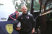 Rotherham United manager Paul Warne arrives at the Pirelli Stadium during the EFL Sky Bet League 1 match between Burton Albion and Rotherham United at the Pirelli Stadium, Burton upon Trent, England on 17 August 2019.