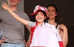 England fan before the FIFA Women's World Cup, round of Sixteen match at State du Hainaut, Valenciennes.