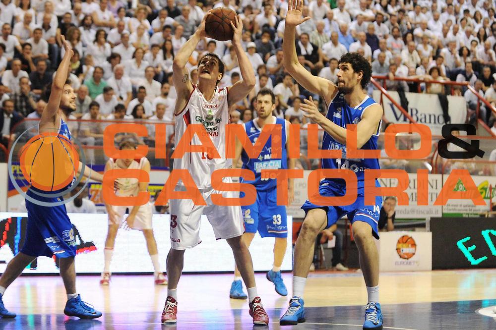 DESCRIZIONE : Pistoia LegaDue 2012-13 Playoff Finale Gara2 Giorgio Tesi Group Pistoia Centrale del Latte Brescia<br /> GIOCATORE : Riccardo Cortese<br /> CATEGORIA : tiro<br /> SQUADRA : Giorgio Tesi Group Pistoia Centrale del Latte Brescia<br /> EVENTO : Campionato LegaDue  2012-2013<br /> GARA :  Giorgio Tesi Group Pistoia Centrale del Latte Brescia<br /> DATA : 10/06/2013<br /> SPORT : Pallacanestro<br /> AUTORE : Agenzia Ciamillo-Castoria/M.Marchi<br /> Galleria : LegaDue Basket 2012-2013<br /> Fotonotizia : Pistoia LegaDue 2012-13 Playoff Finale Gara2 Giorgio Tesi Group Pistoia Centrale del Latte Brescia<br /> Predefinita :