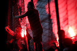 The fans of Spartak during group E football match between NK Maribor and Spartak Moscow in 1st Round of UEFA Champions League, on Septebmer 13, 2017 in Ljudski vrt, Ljubljana, Slovenia. Photo by Morgan Kristan / Sportida