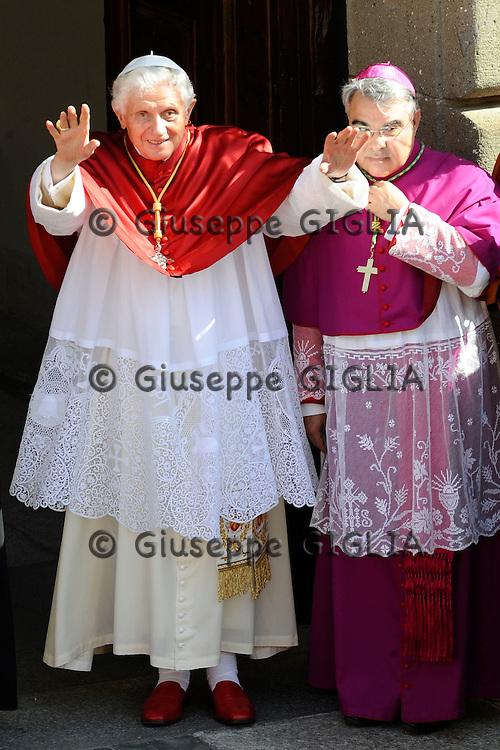 Celebrazioni di ferragosto per papa Benedetto XVI a Castelgandolfo.