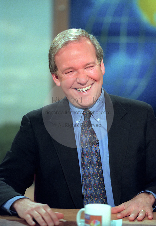 Former White House spokesmen Mike McCurry discusses comments he made earlier during a BBC interview on President Clinton during NBC's Meet the Press December 27, 1998 in Washington, DC.