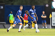 Ronaldo Vieira (25) of Leeds United on the attack during the Pre-Season Friendly match between Oxford United and Leeds United at the Kassam Stadium, Oxford, England on 24 July 2018. Picture by Graham Hunt.