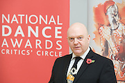National Dance Awards.Announcement of Nominations.9th November 2012 .at The Place, London, Great Britain ..Graham Watts OBE.Chairman, Dance Section.National Dance Awards.Critics' Circle . ..Photograph by Elliott Franks..Tel 07802 537 220 .elliott@elliottfranks.com..2012©Elliott Franks.Agency space rates apply