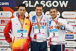 WANG Yinan, TARASOV Denis, LISENKOV Konstantin RUS, CHN at 2015 IPC Swimming World Championships -  Men's 50m Freestyle S8