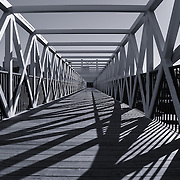 """""""Irene Hixon Whitney Bridge"""" mono 2<br /> <br /> Love the lines and shadows created by the beautiful geometry of this wonderful bridge in Minneapolis MN.!!<br /> <br /> Black and White Images by Rachel Cohen"""
