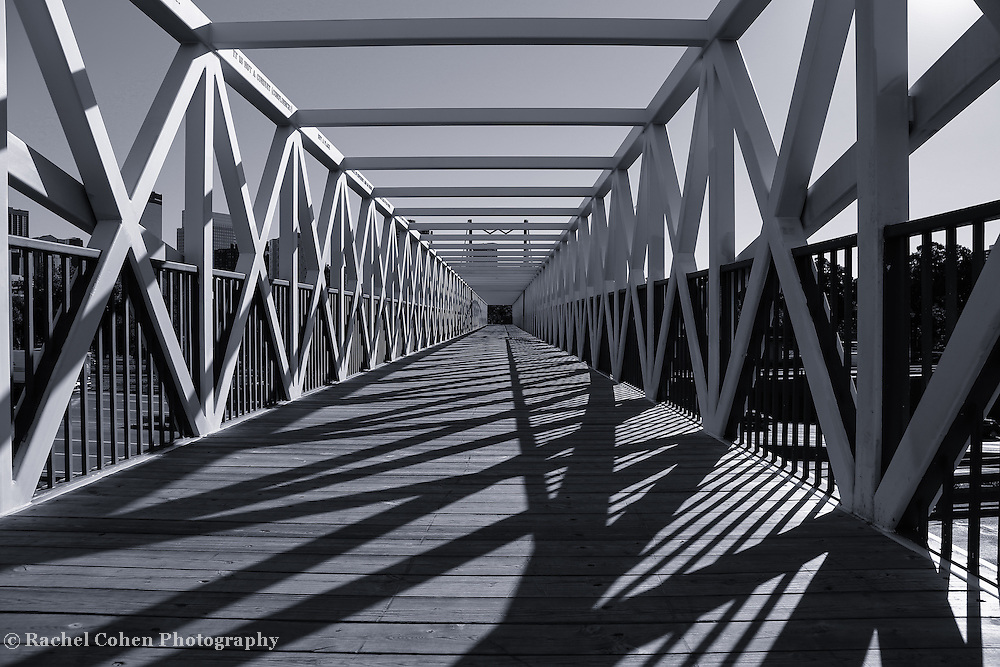 &quot;Irene Hixon Whitney Bridge&quot; mono 2<br /> <br /> Love the lines and shadows created by the beautiful geometry of this wonderful bridge in Minneapolis MN.!!<br /> <br /> Black and White Images by Rachel Cohen