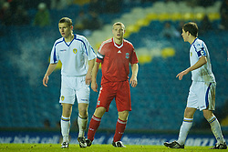 LEEDS, ENGLAND - Tuesday, December 2, 2008: Liverpool's Joe Kennedy in action against Leeds United during the FA Youth Cup 3rd Round at Elland Road. (Photo by David Rawcliffe/Propaganda)