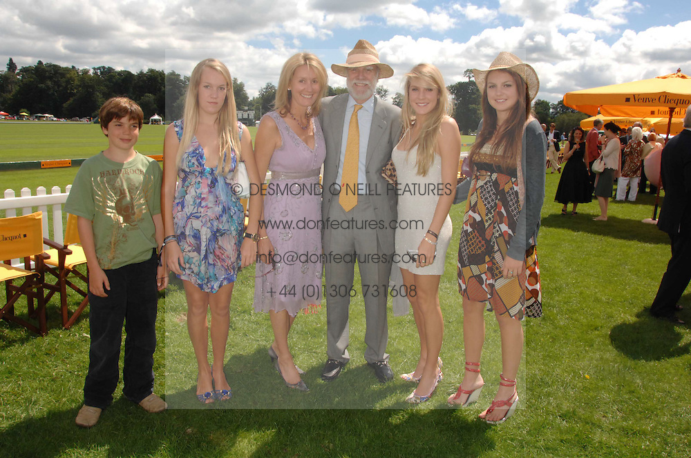 Left to right, the HON.PERRY PEARSON, the HON.EMILY PEARSON, VISCOUNT & VISCOUNTESS COWDRAY, the HON.ELIZA PEARSON and the HON.CATRINA PEARSON at the final of the Veuve Clicquot Gold Cup 2007 at Cowdray Park, West Sussex on 22nd July 2007.<br /><br />NON EXCLUSIVE - WORLD RIGHTS