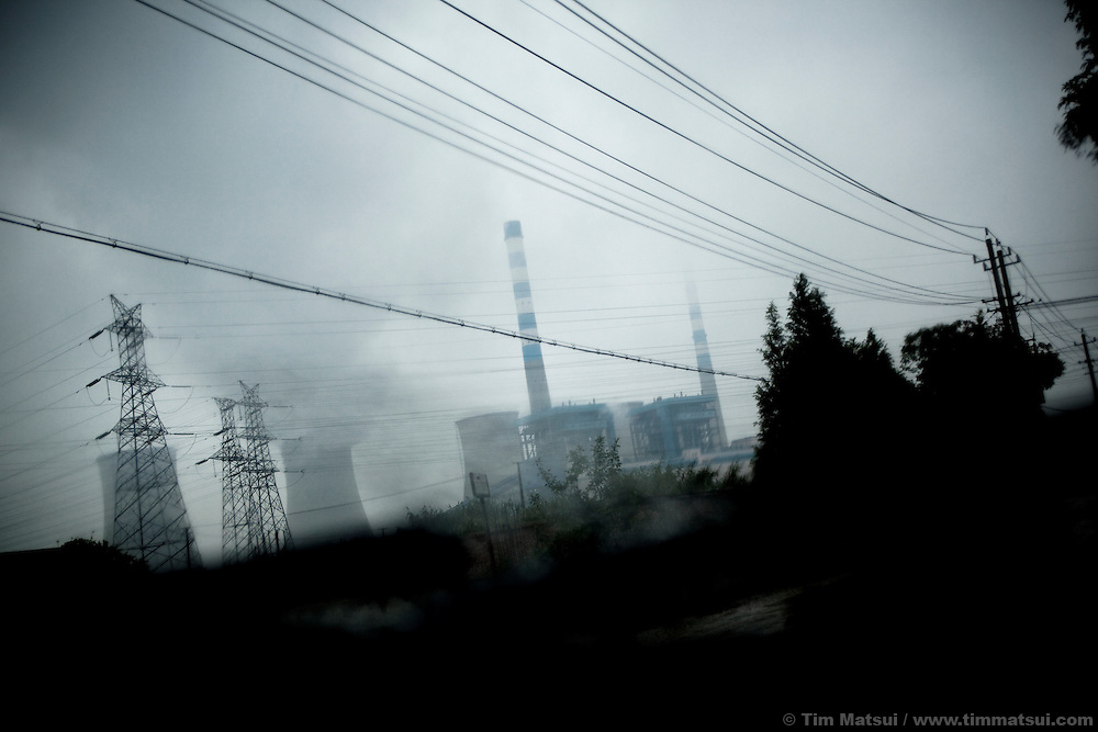 A coal fired power plant in Yangzhou, China, a suburb city of Shanghai and major producer of photovoltaic cells for solar power.