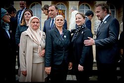 Image ©Licensed to i-Images Picture Agency. 08/07/2014. London, United Kingdom. President Bakir Izetbegovic and his wife (Middle)  meet mother's of Srebrenica at the Srebrenica Memorial Reception at Lancaster House. Picture by Andrew Parsons / i-Images