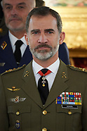 020818 King Felipe attends military audiences at Royal Palace
