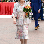 Koningsdag 2014 in Amstelveen, het vieren van de verjaardag van de koning. / Kingsday 2014 in Amstelveen, celebrating the birthday of the King. <br /> <br /> <br /> Op de foto / On the photo:  Prinses Beatrix / Princess Beatrix