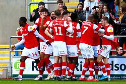 Rotherham United players celebrate their second goal - Mandatory by-line: Ryan Crockett/JMP - 18/01/2020 - FOOTBALL - Aesseal New York Stadium - Rotherham, England - Rotherham United v Bristol Rovers - Sky Bet League One