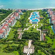 Aerial view of the Pure Mareazul Riviera Maya. Mexico.
