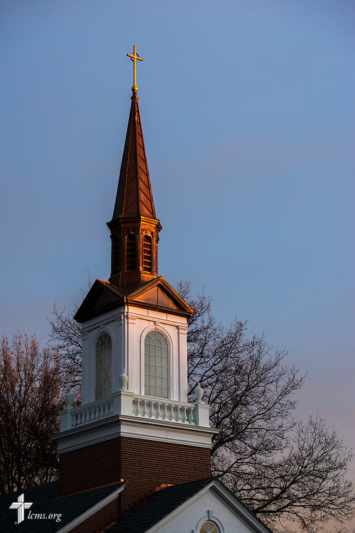 The steeple of Village Lutheran Church on Wednesday, Dec. 10, 2015, in Ladue, Mo.  LCMS Communications/Erik M. Lunsford