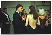 JONATHAN LOWRIE, HEDER MANN, Mala Lindsay dinner party, Chelsea, London. September 1999