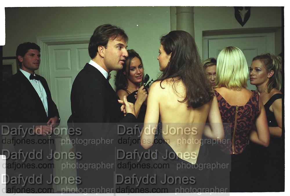 JONATHAN LOWRIE, HEDER MANN, Mala Lindsay dinner party, Chelsea, London. September 1999