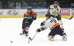 13.11.2016, Merkur Eisarena, Graz, AUT, EBEL, Moser Medical Graz 99ers vs Dornbirner Eishockey Club, 18. Runde, im Bild Markus Pirmann (#44, Moser Medical Graz 99ers), Dustin Sylvester (#19, Dornbirner Eishockey Club) und Cody Sylvester (#16, Dornbirner Eishockey Club) // during the Erste Bank Icehockey League 18th Round match between Moser Medical Graz 99ers and Dornbirner Eishockey Club at the Merkur Ice Arena, Graz, Austria on 2016/11/13, EXPA Pictures © 2016, PhotoCredit: EXPA/ Erwin Scheriau