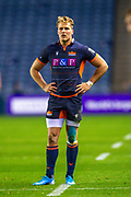 Duhan van der Merwe (#11) of Edinburgh Rugby during the Guinness Pro 14 2019_20 match between Edinburgh Rugby and Scarlets at BT Murrayfield Stadium, Edinburgh, Scotland on 26 October 2019.