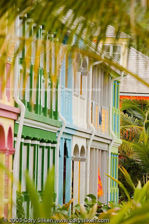St. Martin colorful Orient beach houses