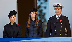 The Countess of Wessex with the Duchess of Cambridge and Vice Admiral Sir Timothy Laurence during the annual Remembrance Sunday Service at the Cenotaph, Whitehall, London, United Kingdom. Sunday, 10th November 2013. Picture by i-Images