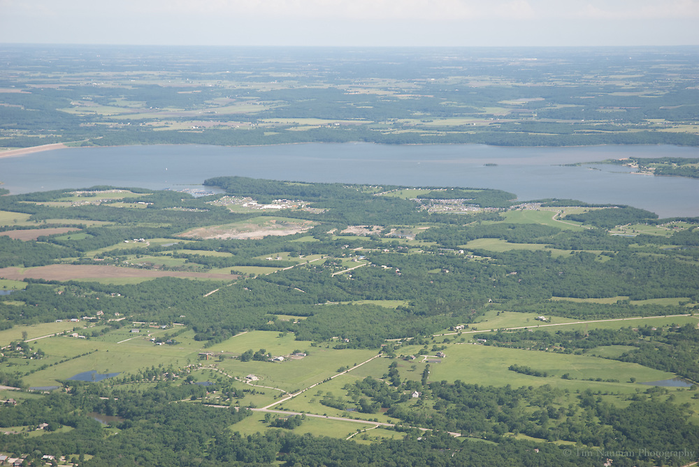 aerial image of Clinton lake, lawrence ks