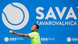 Filip Krajinovic (SRB) play against Lukas Rosol (CZE) at ATP Challenger Zavarovalnica Sava Slovenia Open 2017, on August 8, 2017 in Sports centre, Portoroz/Portorose, Slovenia. Photo by Urban Urbanc / Sportida