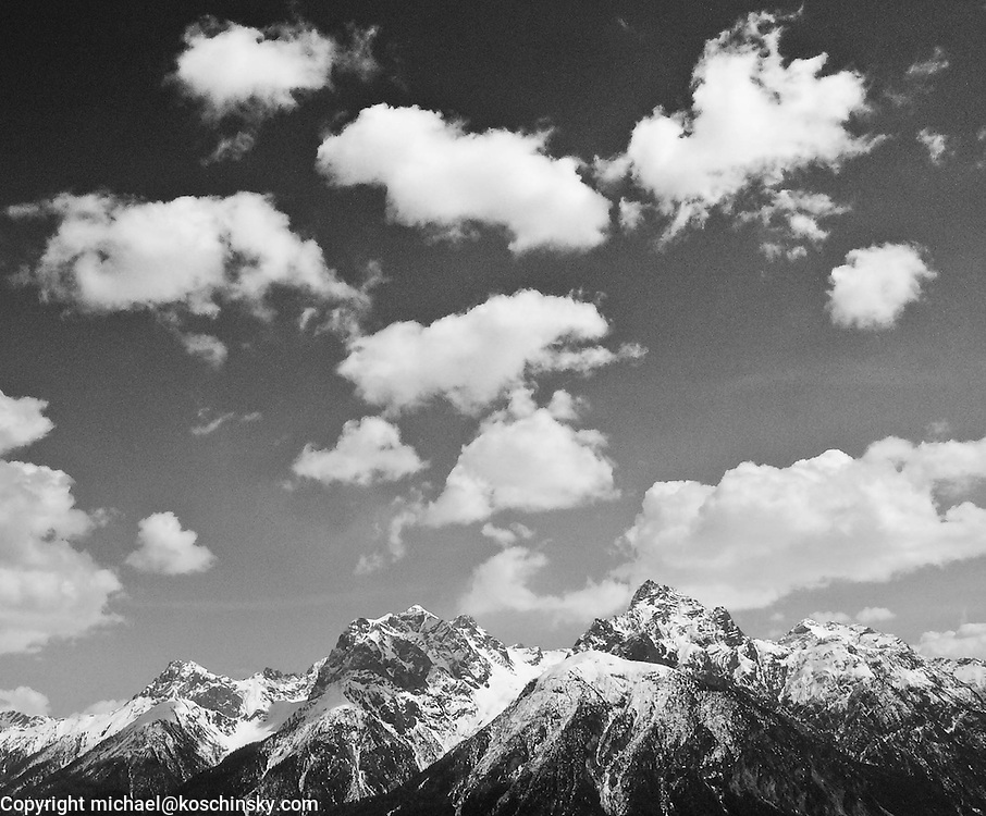 Cloud formation in mountains, Engadin, Switzerland