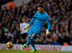 LONDON, ENGLAND - Sunday, March 5, 2017: Tottenham Hotspur's goalkeeper Hugo Lloris, making his 200th appearance for the club, during the FA Premier League match against Everton at White Hart Lane. (Pic by David Rawcliffe/Propaganda)