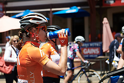 Kristabel Doebel-Hickok (USA) after Stage 2 of 2020 Santos Women's Tour Down Under, a 114.9 km road race from Murray Bridge to Birdwood, Australia on January 17, 2020. Photo by Sean Robinson/velofocus.com
