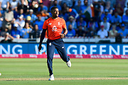 Chris Jordan of England during the International T20 match between England and India at the SWALEC Stadium, Cardiff, United Kingdom on 6 July 2018. Picture by Graham Hunt.