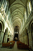 France, Normandy.  Bayeux, Interior Cathedrale Notre-Dame.