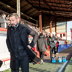 Aberdeen v Kilmarnock, Scottish Premiership, 27th January 2018<br /> <br /> Aberdeen v Kilmarnock, Scottish Premiership, 27th January 2018 &copy; Scott Cameron Baxter | SportPix.org.uk<br /> <br /> Derek McInnes, Aberdeen FC manager takes his place in the dugout.