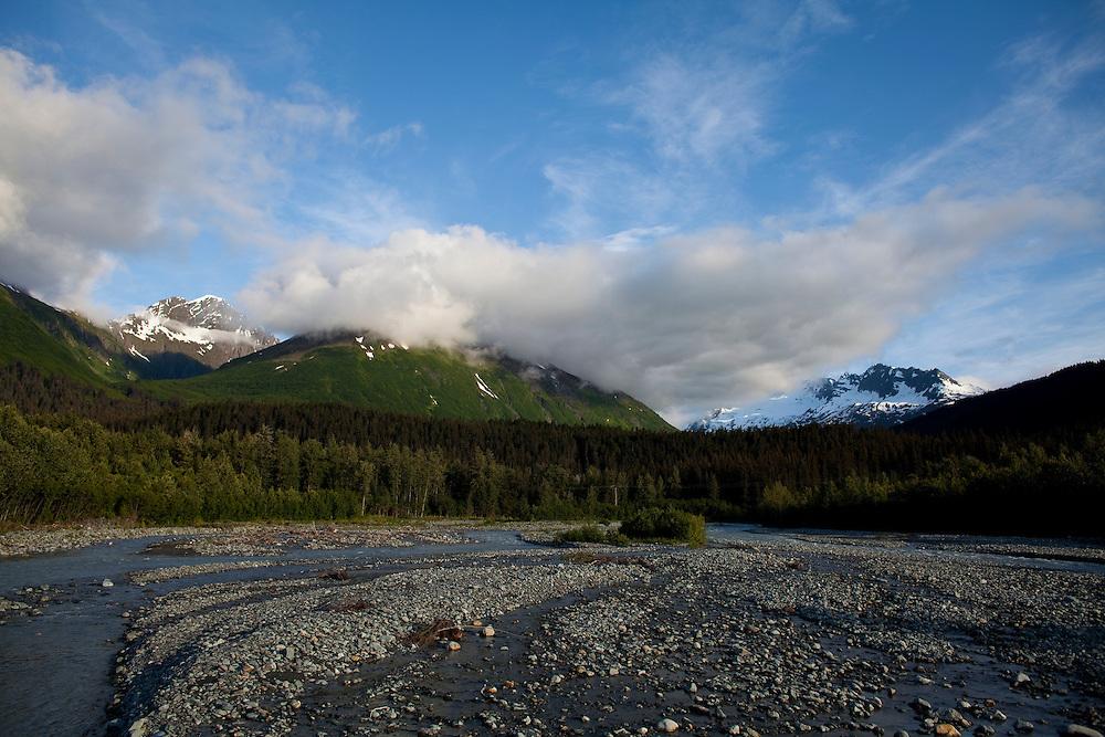 Alaska2010.-Glacier runoff outside of Homer Alaska.