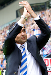 WIGAN, ENGLAND - Sunday, August 19, 2012: Wigan Athletic's manager Roberto Martinez before the Premiership match against Chelsea at the DW Stadium. (Pic by Vegard Grott/Propaganda)