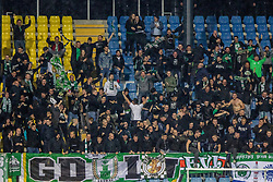 Fans of NK Olimpija  during a football game between NK Olimpija Ljubljana and NK Maribor in Final Round (18/19)  of Pokal Slovenije 2018/19, on 30th of May, 2014 in Arena Z'dezele, Ljubljana, Slovenia. Photo by Matic Ritonja / Sportida