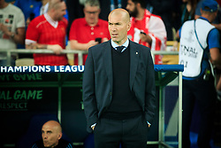 Zinedine Zidane, coach of Real Madrid during the UEFA Champions League final football match between Liverpool and Real Madrid at the Olympic Stadium in Kiev, Ukraine on May 26, 2018.Photo by Sandi Fiser / Sportida