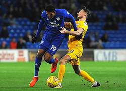 Alan Browne of Preston North End battles with Nathaniel Mendez-Laing of Cardiff City- Mandatory by-line: Nizaam Jones/JMP - 29/12/2017 -  FOOTBALL - Cardiff City Stadium - Cardiff, Wales -  Cardiff City v Preston North End - Sky Bet Championship