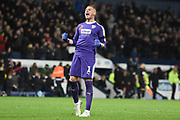 West Bromwich Albion goalkeeper Sam Johnstone (1) celebrates WBA second goal during the EFL Sky Bet Championship match between West Bromwich Albion and Leeds United at The Hawthorns, West Bromwich, England on 10 November 2018.