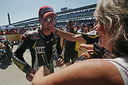 28.08.2010, Motor Speedway, Indianapolis, USA, MotoGP, Red Bull Indianapolis Grand Prix, im Bild Mary and Ben Spies - Monster Tech 3 Yamaha team, EXPA Pictures © 2010, PhotoCredit: EXPA/ InsideFoto/ Semedia *** ATTENTION *** FOR AUSTRIA AND SLOVENIA USE ONLY!